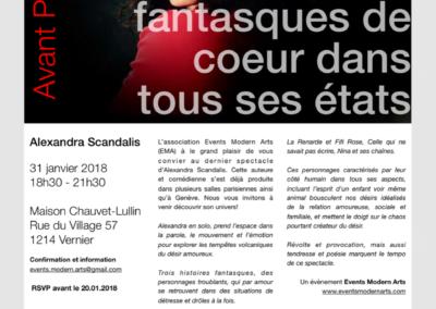 Flyer spectacle Alexandra Scandalis