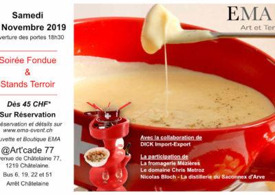 Soirée Fondue et Terroir (nov. 2019)